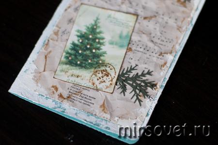 композиция новогодней открытки