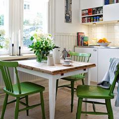 обеденная зона на кухне