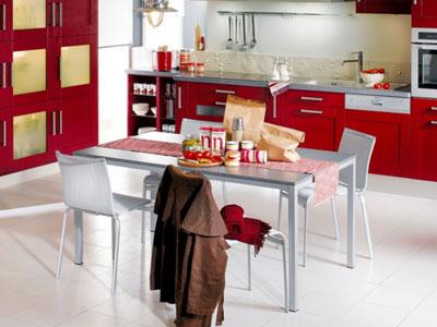 обустройство обеденной зоны в просторной кухне