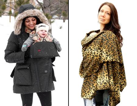 зимняя слингокуртка и пончо для слингомамы