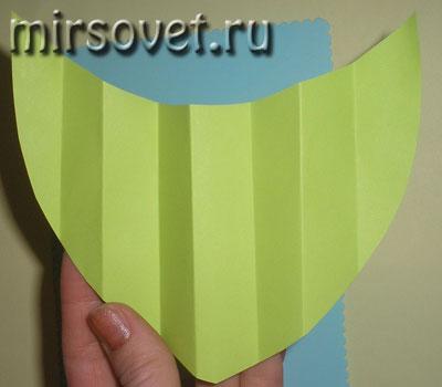 формирование листика лотоса для открытки 8 Марта