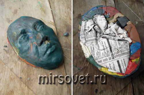 основа маски из папье-маше