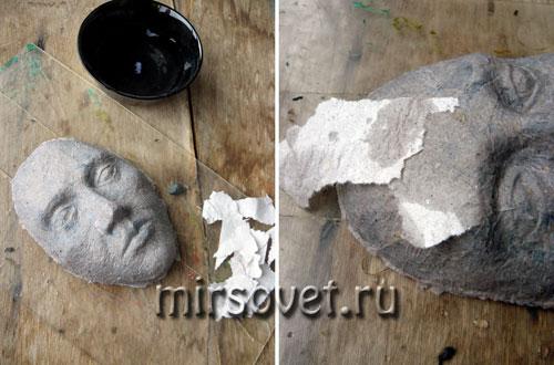начинаем делать маску папье-маше своими руками