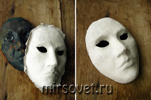 снимаем маску с основы и формируем контур