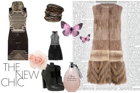 модные платья зимы 2013 с мехом