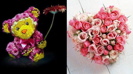 милые подарки из цветов