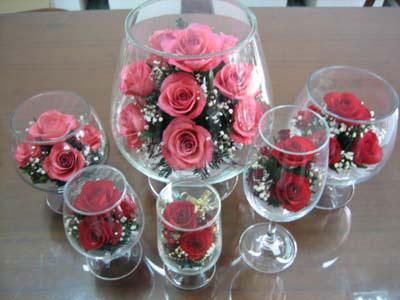 цветы в стекле в подарок