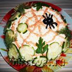 Салат из шпрот на Хэллоуин: фоторецепт