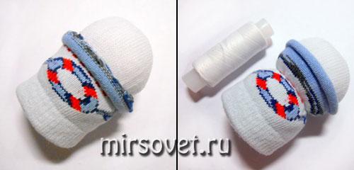 как сделать снеговика своими руками из носков