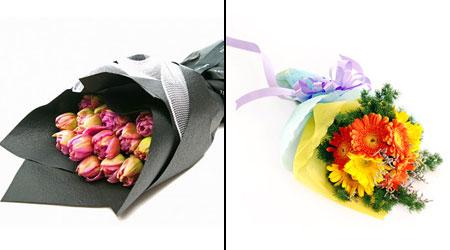 правильная упаковка и транспортировка - мера сохранения цветов