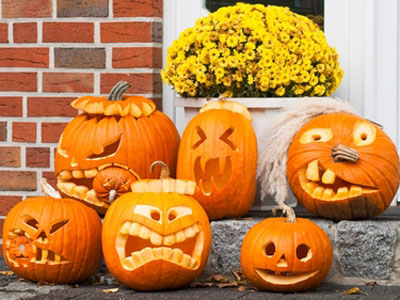 тыквы на Halloween