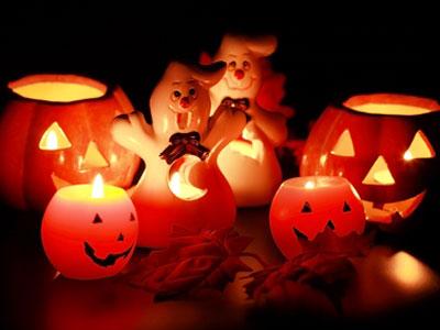 светильник из тыквы на Хэллоуин