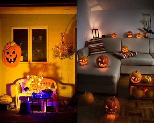 украшение дома для вечеринки Хэллоуин