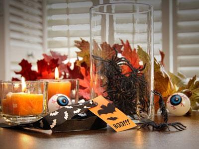 украшение стола для вечеринки в честь Хэллоуина