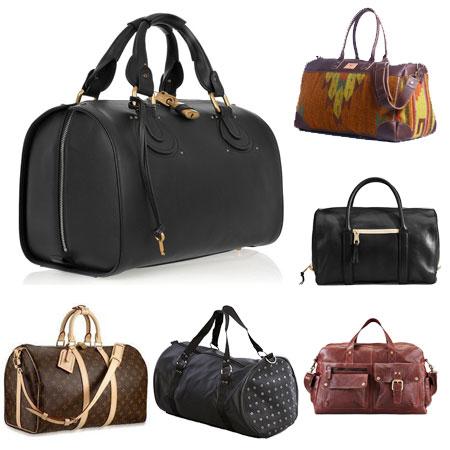 вид женской сумки для путешествий duffel bag