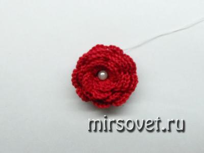 цветок для украшения вязаной крючком змеи