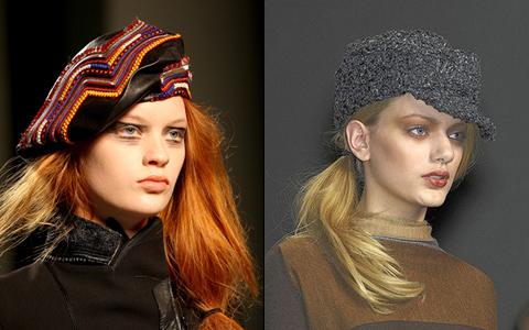модные головные уборы зимы 2013 берет и кепи