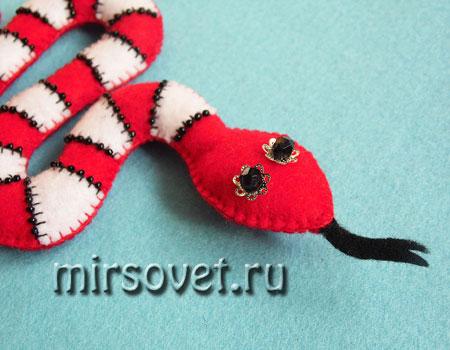 мягкая игрушка змея из фетра