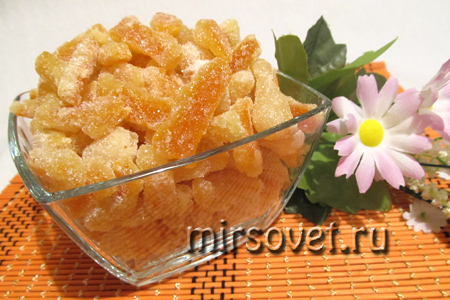 апельсиновые цукаты готовы