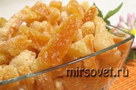 готовые цукаты из апельсинов