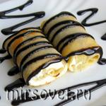 Рецепт вкусных блинчиков с творогом и ананасом