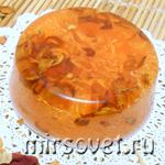 апельсиновое мыло с люфой