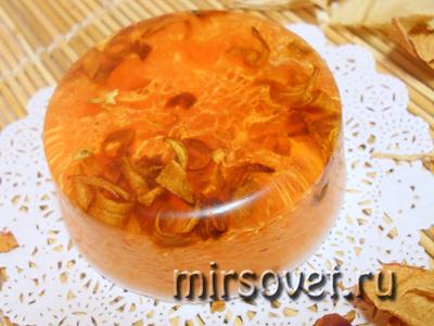 апельсиновое мыло с люфой и лепестками нероли