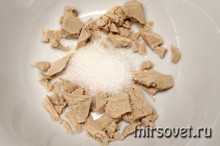 приготовление теста для осетинских пирогов