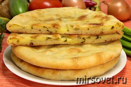 осетинские пироги с картошкой и зеленью