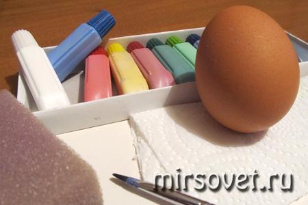 что нужно для росписи пасхального яйца