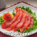 Слабосоленая семга: простой рецепт с фото