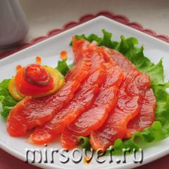слабосоленая семга рецепты блюд