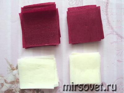квадратики гофрированной бумаги