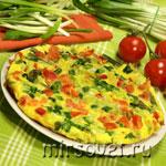 Фриттата со стручковой фасолью и помидорами: пошаговый фоторецепт