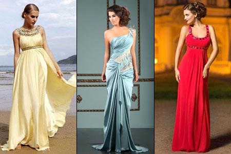 длинное греческое платье