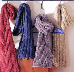 мужские вязаные шарфы, Вязаные