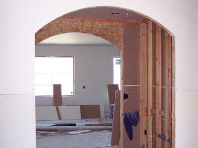 строительство арки из гипсокартона