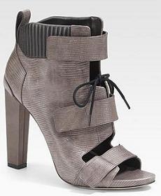 женские ботильоны с открытым носком