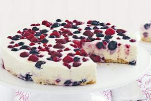 десерт из творога и малины