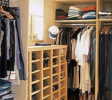 наполнение гардеробной комнаты