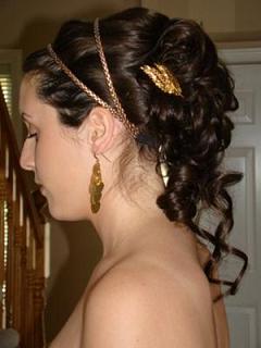 греческая прическа невесты