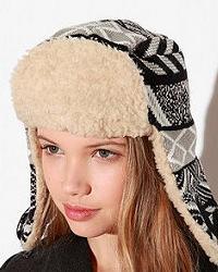 женская шапка-ушанка