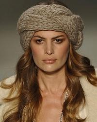 модная зиомй 2011 повязка на голову