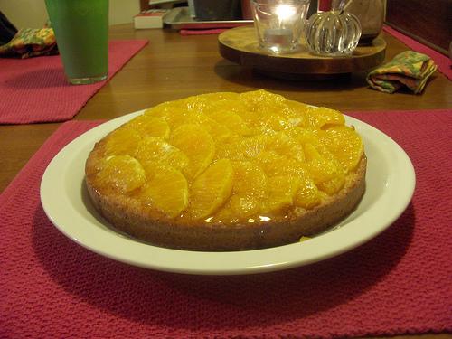 морковный пирог в апельсиновой глазури