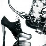 модная сумка и туфли