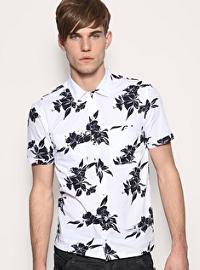 мужская рубашка с гавайским рисунком
