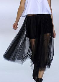 двуслдвуслойные юбки в моде весной и летом 2011 года