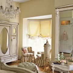 стильная винтажная спальня