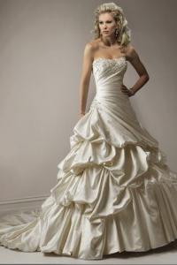 длинное свадебное платье без бретелей